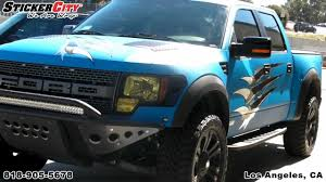 Ford Raptor Blue - matte blue ford raptor truck wrap by sticker city mp4 youtube