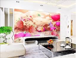 3d room wallpaper custom photo mural cartoon strawberry garden