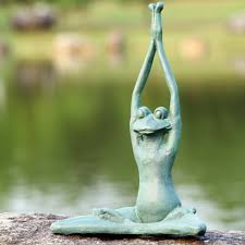meditating frog statue amazing deal on spi home contented yoga