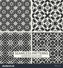 seamless patterns vector collection set 4 stock vector 271581980