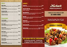 takeout menu template menu printing free menu templates for restaurants and cafes