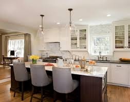 awesome best idea of farmhouse kitchen lighting with grey chairs