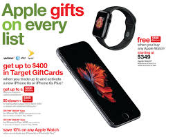 iphone 6s target black friday target offers 400 gc w iphone 6s 10 off apple watch 100 gc
