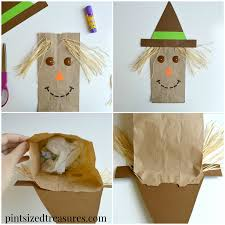 paper bag scarecrows pint sized treasures