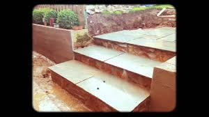 How To Build A Patio by How To Build A Patio U0026 Steps Youtube