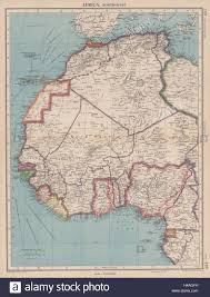 Map West Africa by Africa French West Africa Rio De Oro Rio Muni Nigeria
