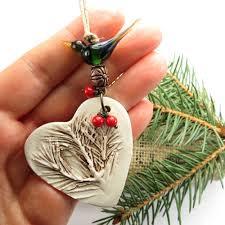 ornament ceramic tree ornament woodland pine