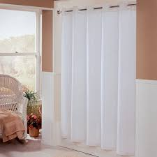 Matching Shower Curtain And Window Curtain Hbh01ebm01 White Embossed Moire Shower Curtain With Matching Flat