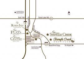 orange county convention center map shingle creek location and transportation orlando meeting