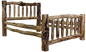 Wood Log Bed Frame Rustic Beds Bunk Beds And Headboards