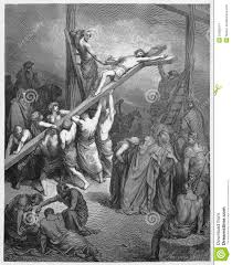 the cross is lifted up with jesus editorial stock image image