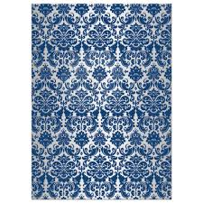 Royal Blue And Silver Wedding Christian Wedding Invitation Royal Blue Silver Damask Printed