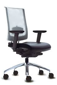 office chair with high backrest on casters with armrests