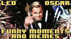 Leonardo Dicaprio Meme Oscar - leonardo dicaprio oscar win funny moments memes youtube