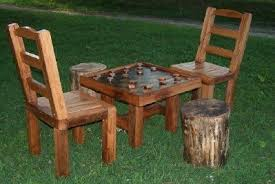 Outdoor Checker Table Made From Grandpas Rustic Checkerboard Table