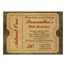 ticket 50th birthday party invitations u0026 announcements zazzle