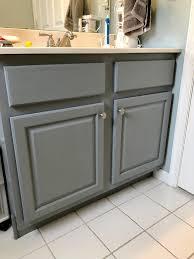 best paint for oak bathroom cabinets painted bathroom vanity one room challenge week 3