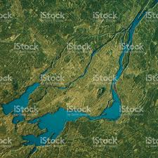 Map Of Montreal Montreal Topographic Map Natural Color Top View Stock Photo Istock
