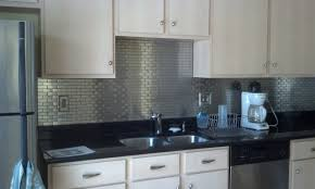 Remarkable White Subway Tile Backsplash Lowes Photo Ideas Amys - Stainless steel backsplash lowes