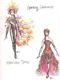 katniss everdeen costume sketches by bonnielass221 on deviantart