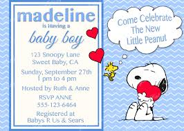 snoopy peanuts baby shower invitation digital printable baby