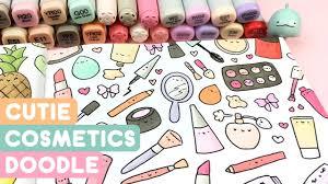 cutie cosmetics doodle kawaii coloring fun kirakiradoodles