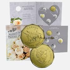 wedding gift amount canada 2017 canada married wedding gift set with struck gift loonie ebay