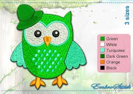 amusing owls embroidery designs pack 2 collection of 10