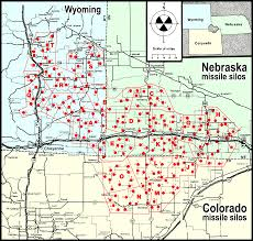 Map Of Nebraska And Colorado by Colorado U0027s Nuclear Missile Silos Maps