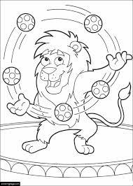 dora explorer leon circus lion printable coloring