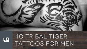 40 tribal tiger tattoos for men youtube