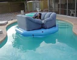 canapé gonflable piscine canapé piscine