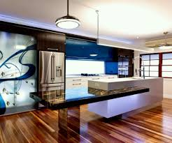kitchen room desgin brown wooden round bar stools rectangle