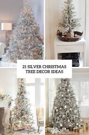 35 Christmas Tree Decoration Ideas by Silver Tinsel Christmas Trees Part 35 Default Name Home