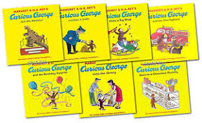 curious george monkey collection margret rey 7 book gift