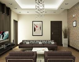 Stone On Walls Interior Apartments Stunning Interior Family Room Design With Decorative