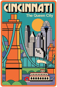 Ohio Travel Style images Cincinnati poster cincinnati wall art cincinnati art print jpg