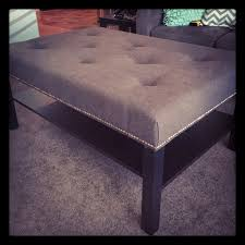 ikea coffee table to tufted ottoman tutorial crafty crafts