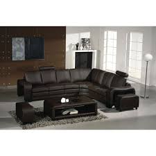 Contemporary Leather Sectional Sofa by Vig Furniture Vgev3330 2 Ev 3330 Modern Espresso Leather