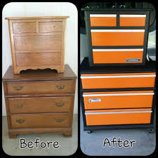 old chest and nightstand redo converted to toolbox chest for boys