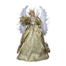 shop christmas central porcelain angel christmas tree topper with