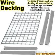 wide span rivet shelving wire decking nxwr01