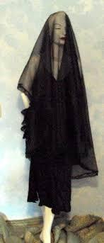 funeral veil black dramatic sheer beautiful lace floor length