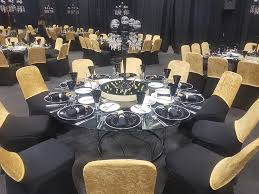 gold and glass table black and gold glass table hire sa event decor