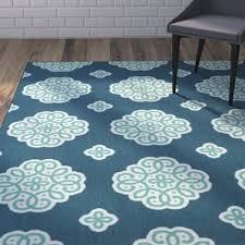 blue medallion rug wayfair