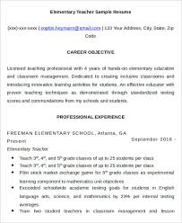 teacher resumes 26 free word pdf documents download free