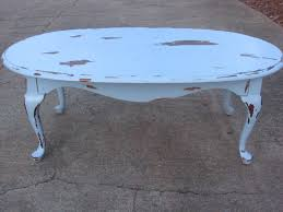 antique white round coffee table material metal shape oval frame