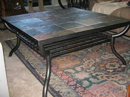 Ashley Furniture Side Tables Coffee Table Model Slate And Wood Tile Top Black Ashley Furniture