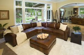 carlyle 4 piece top grain leather sectional in sofas and sectionals