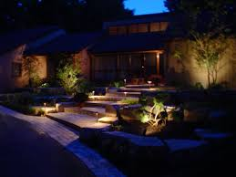 solar landscaping lights outdoor tips for outdoor landscape lighting aroi design